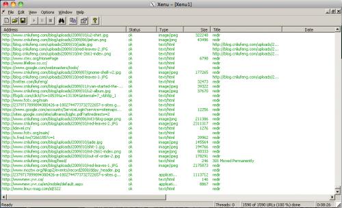 Result of my weblog run xenu.