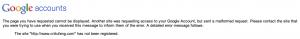 Google accounts authenticate error