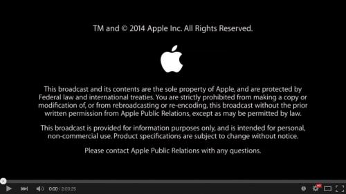 Apple Keynotes 版权页
